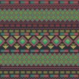 Геометрическая безшовная картина в этническом стиле Стоковое Изображение RF
