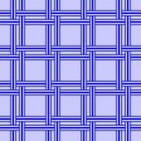 Геометрическая безшовная картина, голубая binding текстура Стоковые Фото