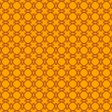 Геометрическая безшовная картина на оранжевой предпосылке иллюстрация вектора