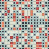 Геометрическая безшовная картина состоя из квадратных элементов аранжировала на салатовой предпосылке Стоковое Фото