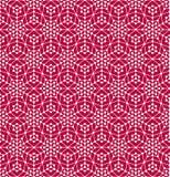 Геометрическая безшовная картина с линиями и кругами Стоковая Фотография RF
