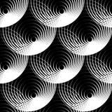 Геометрическая безшовная картина с концентрическими кругами, кольцами Стоковая Фотография