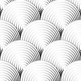 Геометрическая безшовная картина с концентрическими кругами, кольцами Стоковые Фото
