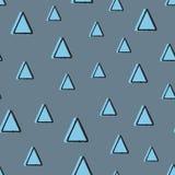Геометрическая безшовная картина с треугольниками Нарисовано вручную иллюстрация вектора