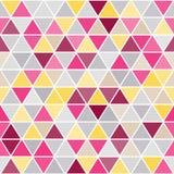 Геометрическая безшовная картина с треугольниками Стоковая Фотография RF