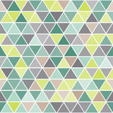 Геометрическая безшовная картина с треугольниками Стоковое фото RF