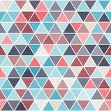Геометрическая безшовная картина с треугольниками Стоковое Изображение