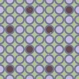 геометрическая безшовная картина с фиолетовыми кругами Стоковые Изображения RF