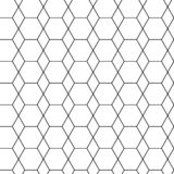 Геометрическая безшовная картина с черным шестиугольником r иллюстрация штока