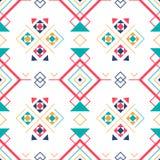 Геометрическая безшовная картина с этническим орнаментом предпосылка ethno ацтекская абстрактная Стоковые Изображения