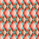 Геометрическая безшовная картина Стоковые Изображения RF