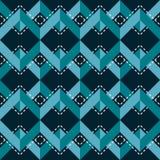 Геометрическая безшовная печать зигзага в голубых и белых цветах Стоковые Изображения