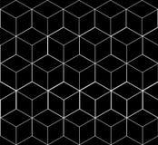 Геометрическая безшовная простая monochrome minimalistic картина куба формирует Стоковое Фото