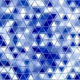 Геометрическая белая голубая сияющая картина с треугольниками бесплатная иллюстрация