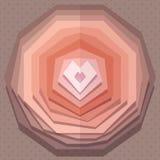 Геометрическая бумажная предпосылка вектора сердца стиля в винтажных цветах Стоковое фото RF