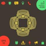 Геометрическая восточная арабская картина логос элемент конструкции ваш Стоковые Фотографии RF