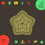 Геометрическая восточная арабская картина элемент конструкции ваш логос Стоковая Фотография