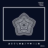 Геометрическая восточная арабская картина элемент конструкции ваш логос Стоковое Изображение