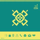 Геометрическая восточная картина логос элемент конструкции ваш Стоковые Изображения RF