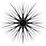 Геометрическая вращая форма Editable иллюстрация вектора Стоковое Изображение RF