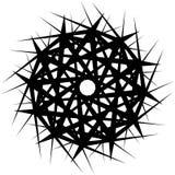 Геометрическая вращая форма Editable иллюстрация вектора Стоковые Фотографии RF