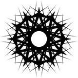 Геометрическая вращая форма Editable иллюстрация вектора Стоковые Изображения RF