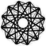 Геометрическая вращая форма Editable иллюстрация вектора Стоковая Фотография