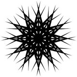 Геометрическая вращая форма Editable иллюстрация вектора Стоковые Изображения