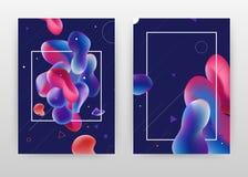 Геометрическая голубая красная пурпурная жидкость дизайн дела для годового отчета, брошюры, летчика, плаката Геометрическая красн иллюстрация вектора