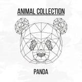 Геометрическая голова панды Стоковые Изображения