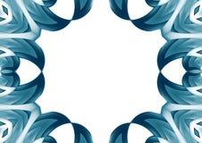 Геометрическая голубая граница Стоковые Изображения RF