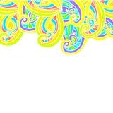Геометрическая граница на белом чертеже предпосылки Стоковое фото RF
