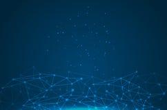 Геометрическая графическая молекула и связь предпосылки бесплатная иллюстрация