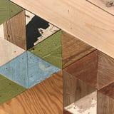 Геометрическая деревянная картина Стоковое Изображение RF