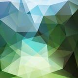 Геометрическая зеленая и голубая предпосылка Стоковые Фотографии RF