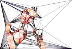Геометрическая иллюстрация женщины иллюстрация штока