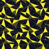 Геометрическая линия картина битника безшовная с треугольником, точкой Сетчатая абстрактная линейная решетка Ретро scrapbook вект Стоковые Изображения