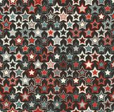 геометрическая картина безшовная Красочные звезды на темной предпосылке Стоковые Изображения RF