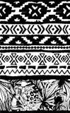 геометрическая картина безшовная Предпосылка этнических ацтекских тропических птиц племенная флористическая Стоковые Изображения RF