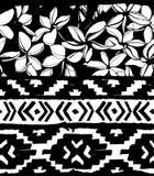 геометрическая картина безшовная Этническая ацтекская тропическая племенная флористическая предпосылка цветков Стоковые Изображения