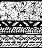 геометрическая картина безшовная Этническая ацтекская тропическая племенная флористическая предпосылка цветков Стоковая Фотография RF
