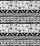геометрическая картина безшовная Этническая ацтекская тропическая племенная флористическая предпосылка цветков Стоковые Фотографии RF