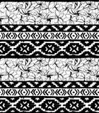 геометрическая картина безшовная Этническая ацтекская тропическая племенная флористическая предпосылка цветков Стоковые Фото