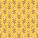 Геометрическая картина вектора seamles с цветками Стоковое Фото