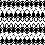 Геометрическая картина в черном белом цвете Стоковая Фотография