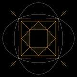 Геометрическая картина, квадратный элемент, иллюстрация Стоковая Фотография RF