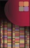 Геометрическая картина, комплект квадрата, плитки цвета Стоковые Фото
