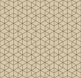 Геометрическая картина пересекать выравнивается на коричневой предпосылке абстрактная конструкция предпосылки ваша вектор Стоковая Фотография RF