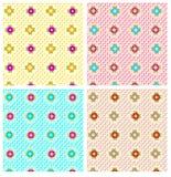 Геометрическая картина повторения цветка стоковые изображения rf