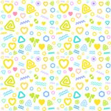 Геометрическая картина простая, пастельные цвета, для ткани ` детей Стоковая Фотография